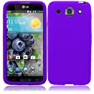 Super Purple Soft Premium Silicone Case Cover Skin Protector for LG Optimus G Pro E980 (by AT&T) with Free Gift Reliable Accessory Pen