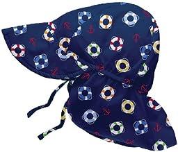 i play Baby Boys\' Flap Sun Hat (Baby) - Navy - Newborn
