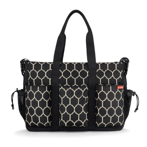 Skip Hop Duo Double Deluxe Diaper Bag, Onyx Tile