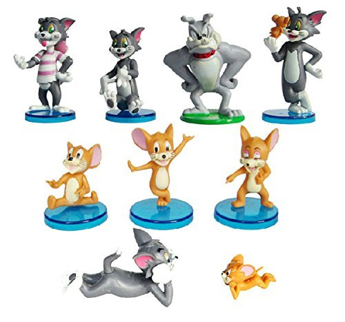 9x Tom and Jerry PVC Action Figure Animal Model Toy