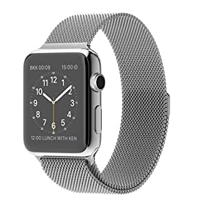 Apple 42 mm Stainless Steel Case Watch with Milanese Loop