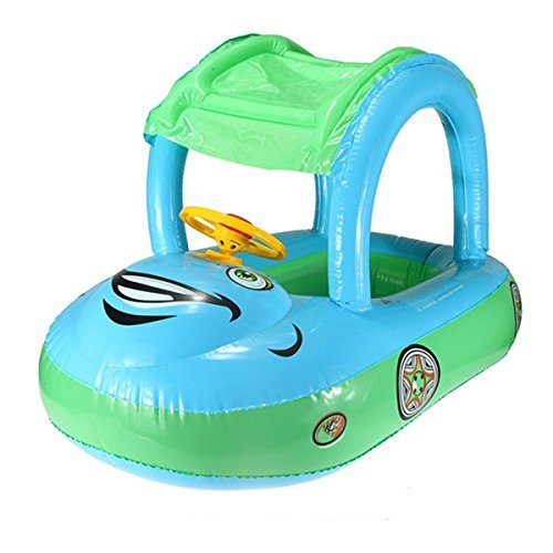 Inflatable Baby Float Seat Boat Tube Ring Car Sun Shade Swim Swimming Pool Water by Inflatable Baby Floats günstig kaufen