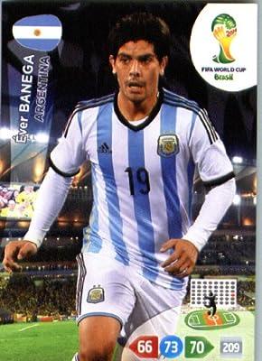2014 FIFA Panini Adrenalyn World Cup Soccer Card Ever Banega Argentina