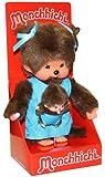 Sekiguchi 236190 - Monchhichi Mutter mit Baby in blau Kleidchen