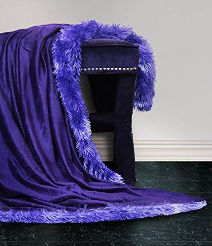 Faux Fur Mink Reversible Throw Decorative Lounge Blanket