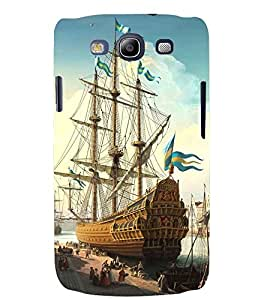 Printvisa Docked Sailors Ship Back Case Cover for Samsung Galaxy S3::Samsung Galaxy S3 i9300