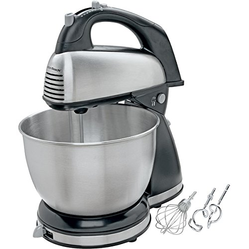 4-Quart 6-Speed Brushed Stainless Steel Classic Stand/Hand Mixer front-255711