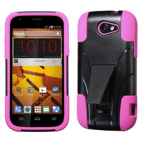 Mybat Asmyna Zte N9515 (Warp Sync) Inverse Advanced Armor Stand Protector Cover - Retail Packaging - Pink