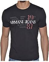 Armani Jeans - Tee Shirt Manches Courtes - Homme - Z6h01 - Noir