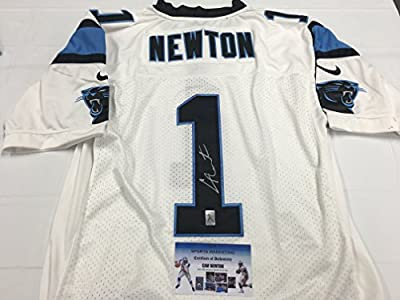 Cam Newton Autographed Signed Carolina Panthers White Authentic Jersey GTSM Personal Player Hologram & Coa Card