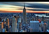 Empire State Building New York City Skyline Poster A1 A2 A3 Wall Art