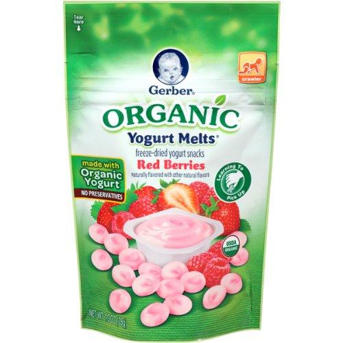 Gerber Organic Yogurt Melts, Red Berries, 1 oz (Nestle Yogurt compare prices)