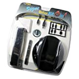 6 in 1 Super Value Kit for Sony PS3 (USB Charge Cable/Cooling Fan/Stand/Cover Pack)