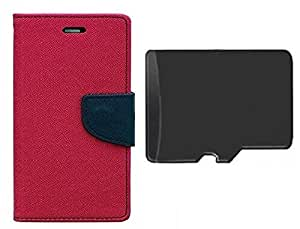 TOS Premium Combo of Flip cover and 4GB Sd Card for Nokia 535
