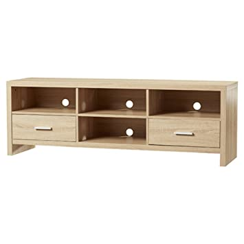 "65"" TV Stand with 2 Drawers and 4 Spacious Open Shelves"