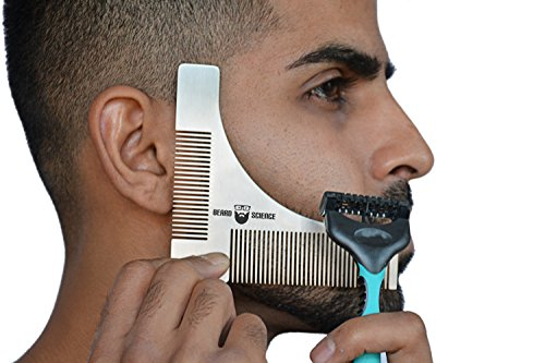 beard shaper trimmer styling template guide for beard grooming for any style professional. Black Bedroom Furniture Sets. Home Design Ideas