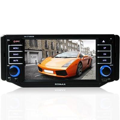"""XOMAX XM-DTSB5008 Autoradio / Moniceiver + Bluetooth Freisprecheinrichtung & Musikwiedergabe + 5""""/13 cm Touchscreen Display + codefree DVD / CD Player + USB Anschluss (bis 32 GB!) + SD Kartenslot (bis 32 GB!) + Audio & Video: MP3, WMA, MPG4, AVI, DIVX + R"""