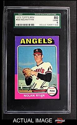 1975 Topps # 500 Nolan Ryan Los Angeles Angels (Baseball Card) SGC 6 - EX/MT