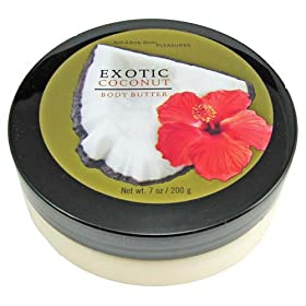 Bath & Body Works Exotic Coconut Pleasures Collection Body Butter 7 oz
