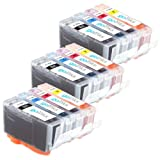 3 Set of 4 Printer Ink Cartridges to replace HP 364 XL for HP Photosmart 4622, 5510, 5515, 6510, 7510, B109a, B109c, B109d, B109f, B109n, B109q, B110a, B110c, B110d, B110e, B8550, B8553, C5380, C5383, C5390, C6300, C6380, CN245B, D5460, D7560, B209, B209