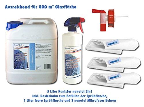 Nanotechnologie-Reinigung-und-Glasversiegelung-fr-800-m-Schaufenster-Wintergarten-Solaranlage-Ausstellungsvitrinen-5-Liter