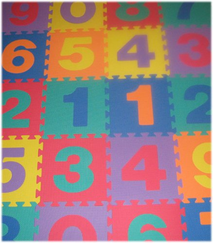 Picture of SoftnSafe EVA Foam Number Mat (2 Sets) (B001ORBYJ4) (Puzzle Play Mats)