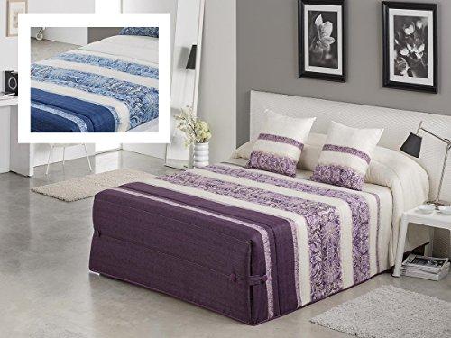 Textilhome - Colcha Conforter AMBER 105 cm. Color Azul
