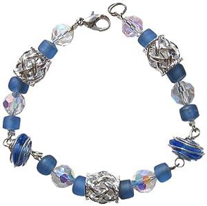 Silver and Blue Bracelet