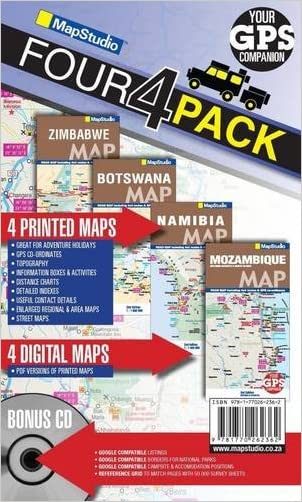 Road Map 4x4 Pack: Mozambique, Zimbabwe, Botswana & Namibia written by Map Studio