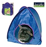 Boredom Breakers Pop up Tent Medium Blue Ideal shelter for Smaller Rabbits Guinea Pigs FerretsThis medium pop up tent is ideal for small pets who like a little hide away it can be used outdoor or in and has a removable soft fleece pad for extra comfortIt
