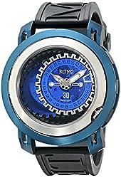 Ritmo Mundo Men's 202/2 Lt Blue Persepolis Dual-Time Exhibition Automatic Watch