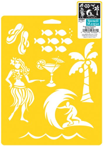 Stencil Mania 7x10 Stencil: Tropical Vacation