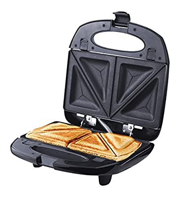 ZZ S61421 3 in 1 Sandwich Waffle and Breakfast Maker with Non-stick Plates, Black from Cuori.com