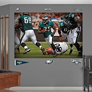 NFL Philadelphia Eagles LeSean McCoy In Your Face Mural Wall Graphics by Fathead
