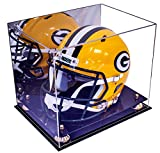 Full Size Football Helmet Display Case With Mirror