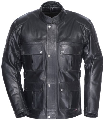 TourMaster Lawndale Men's Leather Motorcycle Jacket (Black, XXX-Large) (Thor Motorcycle Gear compare prices)