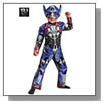 Disguise Hasbro Transformers Age of Extinction Movie Optimus Prime Toddler Muscle Costume, Medium/3T-4T