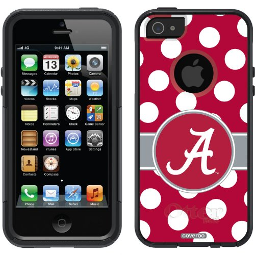 Special Sale Alabama - Polka Dots design on a Black OtterBox® Commuter Series® Case for iPhone 5s / 5
