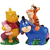 Westland Giftware Magnetic Ceramic Salt and Pepper Shaker Set, 4-Inch, Disney Winnie The Pooh Best Friends, Set of 2