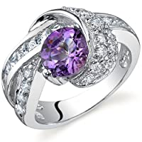 Mystic Divinity 1.25 carats Amethyst Ring in Sterling Silver Size 5 to 9 Free Shipping