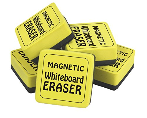 the-classics-magnetic-whiteboard-dry-erasers-12-2-x-2-inches-12-pack-yellow-black-tpg-355