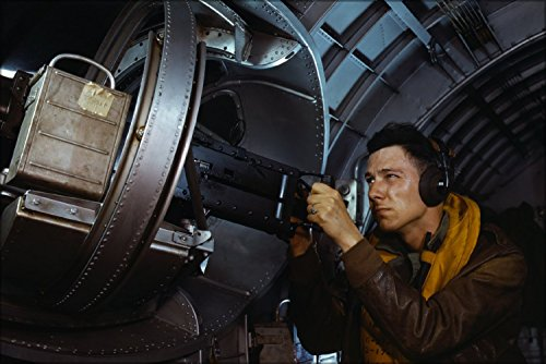 Side Machine Gunner Of A Yb-17 Bomber. B-17 Flying Fortress 1942 Poster