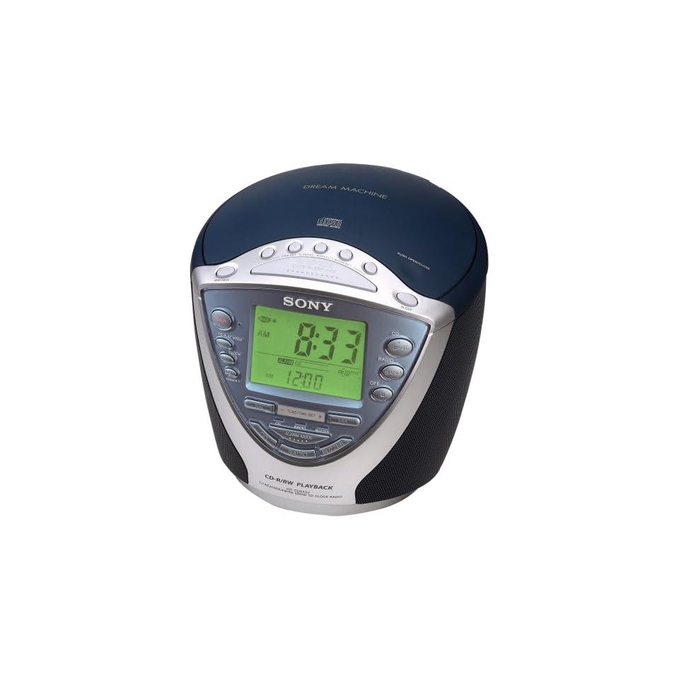 Sony Dream Machine ICF CD843V CD Clock Radio with Digital Tuner