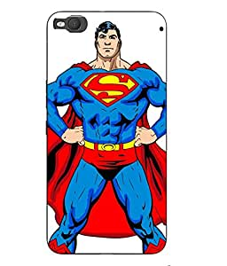 Case Cover Superman Printed White Hard Back Cover For HTC One X9 Smartphon