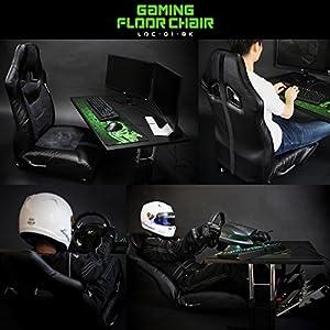 Bauhutte (バウヒュッテ)  ゲーミング座椅子 リクライニング ポケットコイル採用 LOC-01-BK