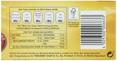 Teekanne Klassik entcoffeiniert Schwarztee 20 Beutel, 4er Pack (4 x 35 g Packung) von Teekanne auf Gewürze Shop