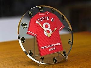 PREMIER LEAGUE FOOTBALL SHIRT ACRYLIC DESKTOP CLOCKS - ANY NAME, ANY NUMBER, ANY TEAM (Liverpool) by MyShirt123
