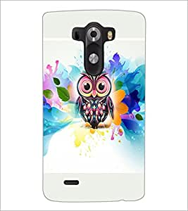 PrintDhaba Owl D-4540 Back Case Cover for LG G3 (Multi-Coloured)