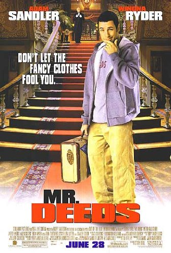 Mr. Deeds Version B Movie Poster Double Sided Original 27X40