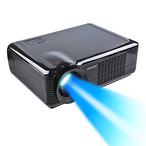 DBPOWER LED 66 Vidéoprojecteur Noir HDMI USB Ypbpr VGA 20,000 Heures Lampe, 854 * 540,2000 Lumens